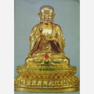 Statues Bouddhiques en Bronze Doré