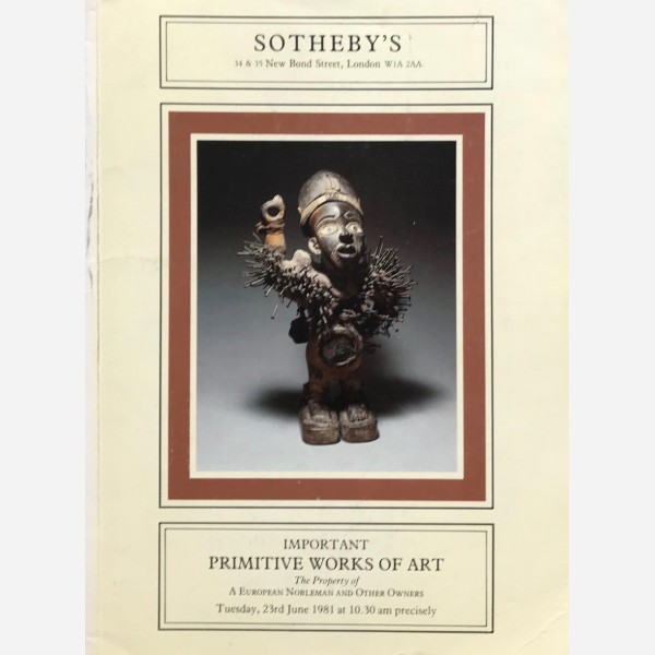 Sotheby's, London, 23/06/1981