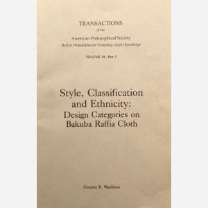 Style, Classification and Ethnicity : Design Categories on Bakuba Raffia Cloth