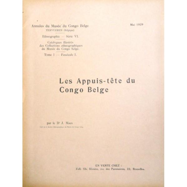 Les Appuis-tête du Congo Belge