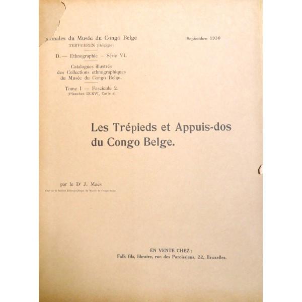 Les Trépieds et Appuis-dos du Congo Belge